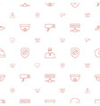 guard icons pattern seamless white background vector image vector image