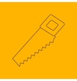 Hand saw line icon vector image