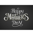 Happy Mothers Day Chalk lettering vector image vector image