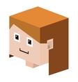 Head lego girl with light brown hair