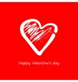 Heart on a red background on Valentines vector image vector image
