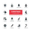 holidays theme christmas - line design icons set vector image vector image