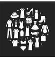 icons set of fashion ladieswear vector image