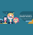 inner world webinar header vector image