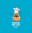 international chef day greeting card vector image vector image