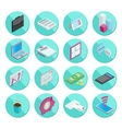 Isometric flat style design colorful business and vector image vector image