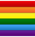 lgbt rainbow flag gay colors vector image vector image