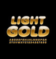 light gold alphabet letters and numbers ri vector image
