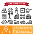 Line icons set 23 vector image vector image