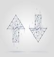 linear arrow abstract logo connected segments of vector image vector image