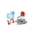 logotype l modern template set vector image vector image