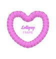 lollipop red heart frame vector image