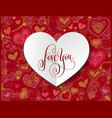 love you - valentines design greeting card with vector image