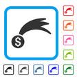 lucky money framed icon vector image