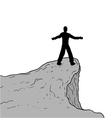 man in cliff vector image