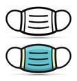 medical mask icon symbol vector image vector image