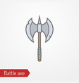 medieval or fantasy battle axe image vector image