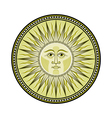 Medieval sun vector image vector image