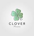 minimalist clover leaf logo vector image
