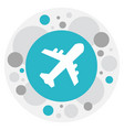 of journey symbol on aviation vector image vector image