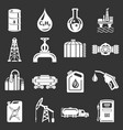 oil industry icons set grey vector image vector image