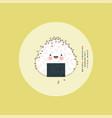onigiri japanese rice ball with black sesame vector image