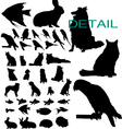 pet silhouettes vector image vector image