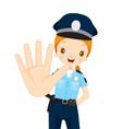 Policewoman Raise Hand To Stop vector image