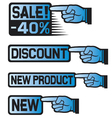 Price Tag Set-sales finger vector image vector image