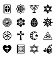 Religion icon set vector image