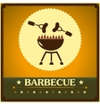 retro barbecue grill poster design menu background vector image vector image
