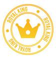 royal king stamp vector image vector image