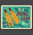scuba diving and sea snorkeling sport shop vector image vector image