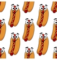 Seamless background pattern of a hotdog vector image vector image