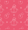 seamless new suitable pattern with santa claus vector image vector image