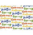 Season words seamless pattern vector image vector image