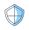 security shield isolated icon vector image vector image