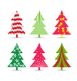 set of christmas trees for design vector image