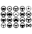 Set of different steering wheels vector image vector image