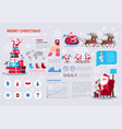 set template infographic elements with merry vector image