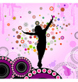 Silhouette of a Girl Dancing vector image vector image