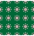snowflakes on green background Christmas seamless vector image vector image