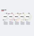 timeline minimal infographic concept vector image