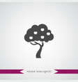 tree icon simple vector image vector image