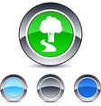 tree round button vector image vector image