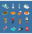 USA Touristic Icons Set vector image vector image