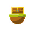 video game treasure chest in the digital platform vector image vector image