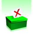 Vote boxe vector image