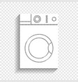 washing machine sign white icon with soft vector image