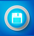 white floppy disk for computer data storage icon vector image vector image